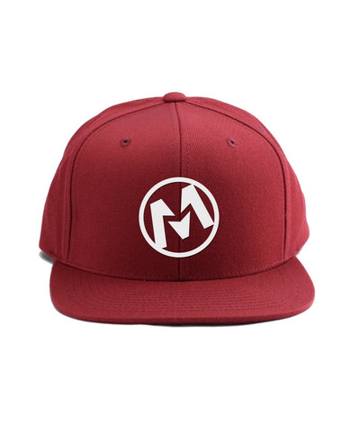 Montra Snapback Hat Red - Circle