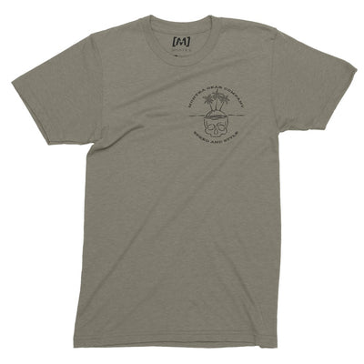 Montra Skull Island T Shirt Olive