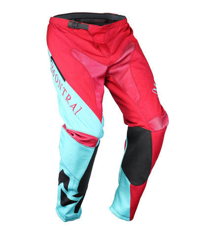 MX-1 Pants Teal/Maroon