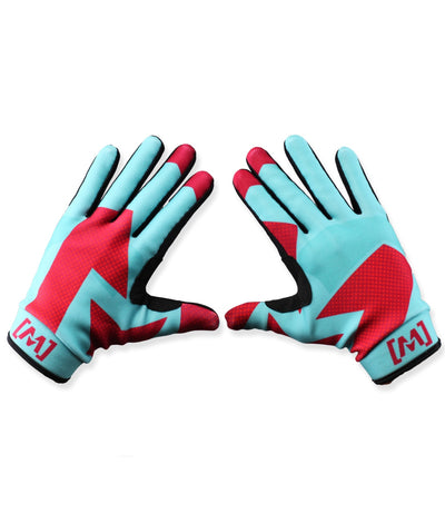 MX-1 Gloves Teal/Maroon