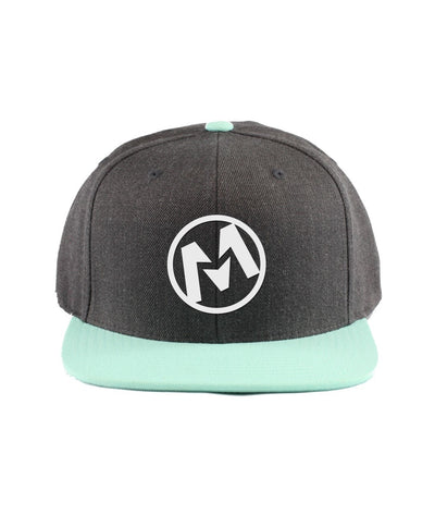 Montra Snapback Hat Teal/Charcoal - Circle