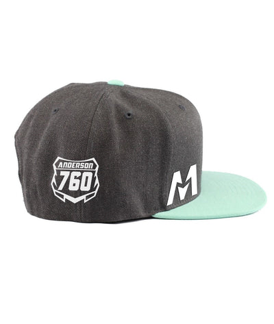 Montra Snapback Hat Teal/Charcoal - Edge