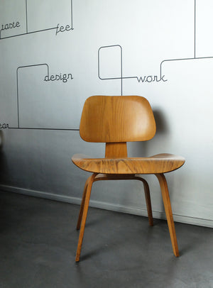 Strange Dcw Chair In Calico Ash By Charles Ray Eames For Herman Miller 1950 Pabps2019 Chair Design Images Pabps2019Com