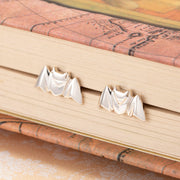 Origami Bat Silver Stud Earrings - Lertvizutte