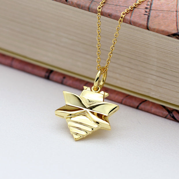Origami Bee Silver Necklace - Lertvizutte