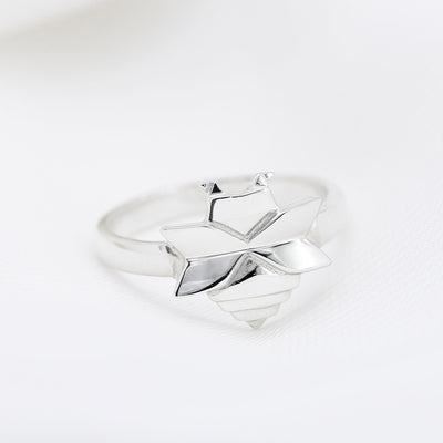 Origami Bee Silver Ring - Lertvizutte