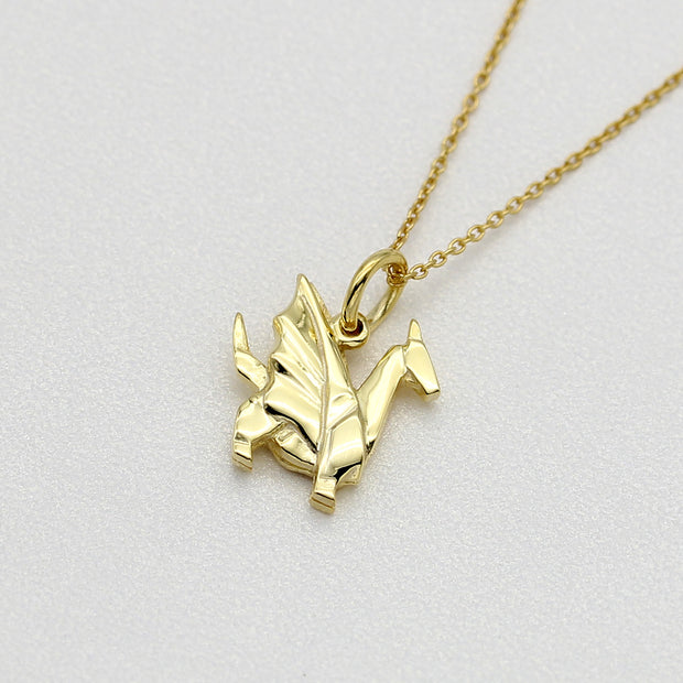 Origami Dragon Silver Necklace - Lertvizutte