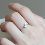 Mini Origami Duck Silver Ring - Lertvizutte