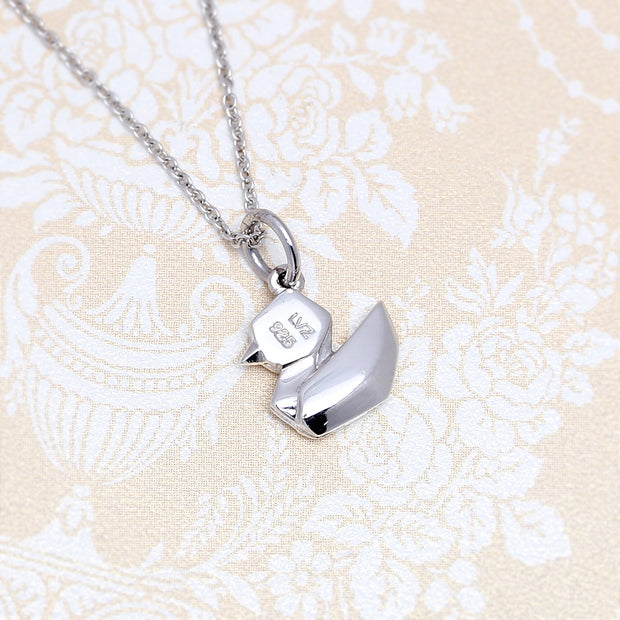 Origami Duck Silver Necklace - Lertvizutte