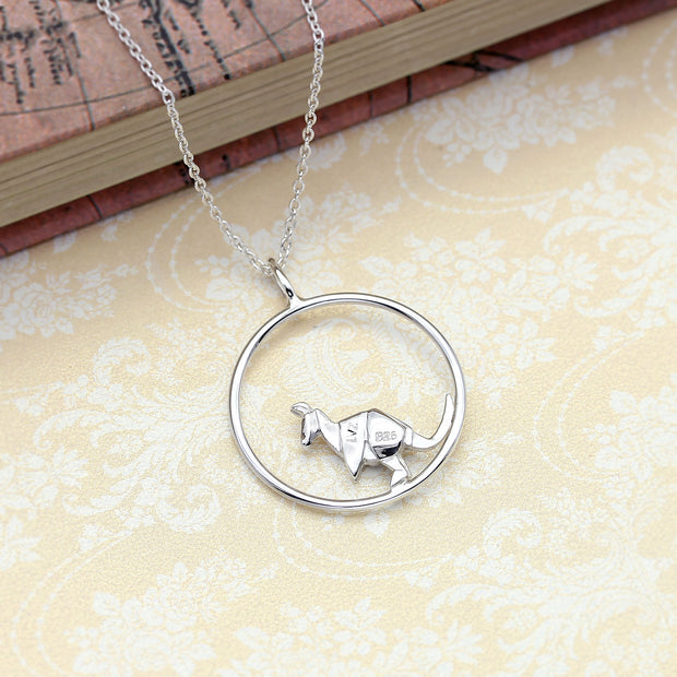 Origami Kangaroo Circle Necklace - Lertvizutte