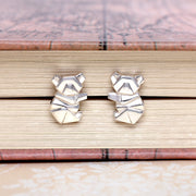 Origami Koala Silver Stud Earrings - Lertvizutte