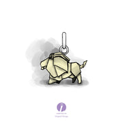 Origami Lion Silver Necklace - Lertvizutte