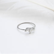 Mini Origami Wiener Dog Silver Ring - Lertvizutte