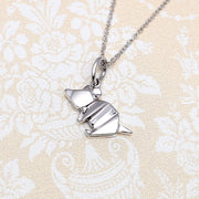 Origami Mouse Silver Necklace - Lertvizutte