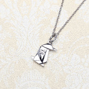 Origami Penguin Silver Necklace - Lertvizutte