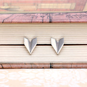 Origami Plane Silver Stud Earrings - Lertvizutte