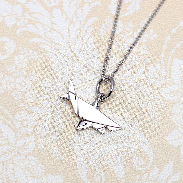 Origami Shark Silver Necklace - Lertvizutte