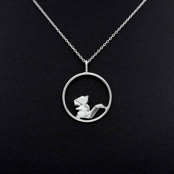 Origami Squirrel Circle Necklace - Lertvizutte