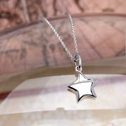 Origami Star Silver Necklace - Lertvizutte