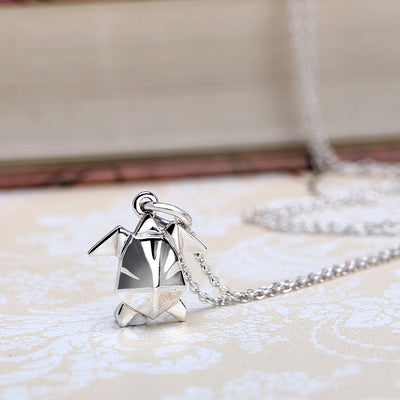 Origami Turtle Silver Necklace - Lertvizutte