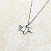 Origami Wiener Dog Silver Necklace - Lertvizutte