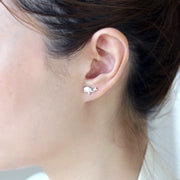 Origami Whale Silver Stud Earrings - Lertvizutte