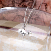 Origami Whale Silver Necklace - Lertvizutte