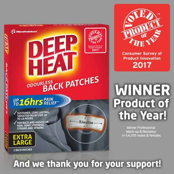 Deep Heat Back Patches - Product of the Year Winner 2017