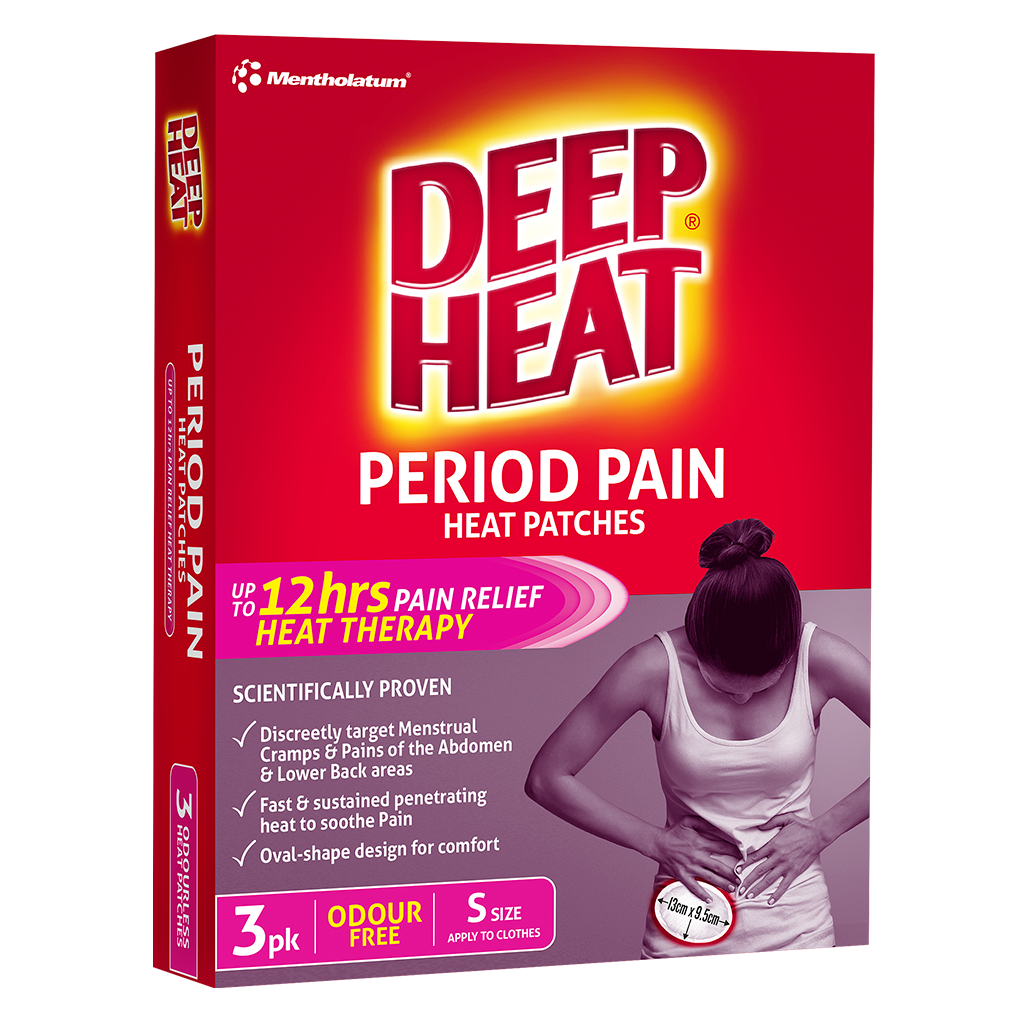 Deep Heat Period Pain Patches 3 Pk