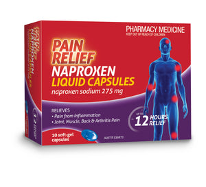 Pain Relief Naproxen Liquid Capsules