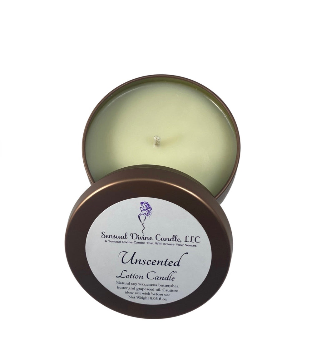 Unscented Lotion Candle