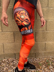 Style—High waist leggings Polyester/Spandex Blend Color—Digicamo orange with Fight2Thrive quote and Empower Fist