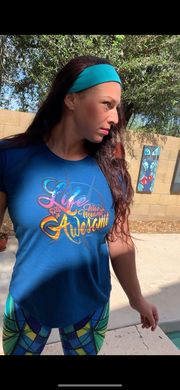 LIFE WAS MEANT TO BE AWESOME SUNRISE TSHIRT - ARKEO1