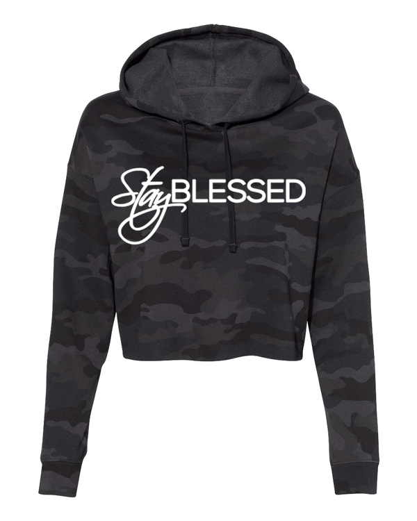 Stay Blessed - Women's Crop Hoodie