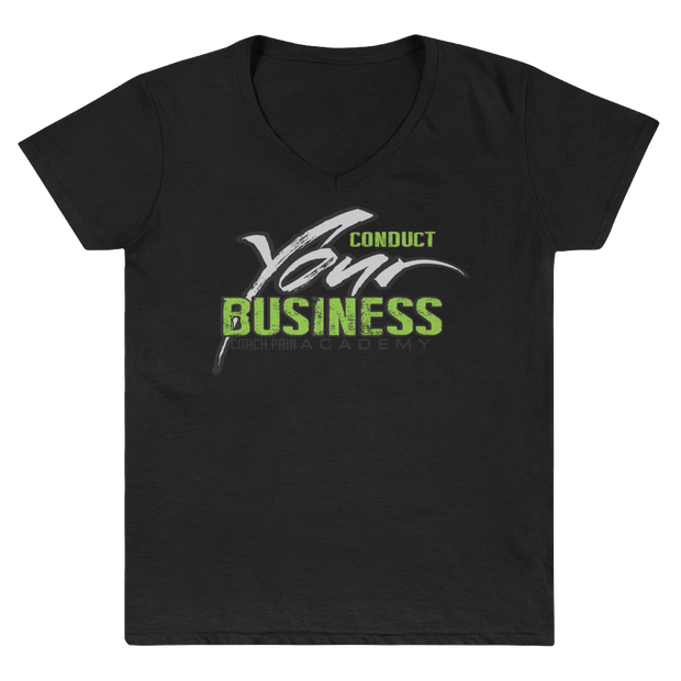 CPA Women's V-Neck Conduct Your Business