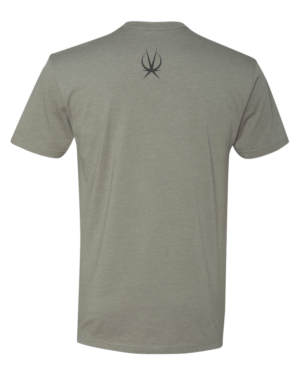Grey Athletic Fit TShirt Printed on back Arkeo1 Icon