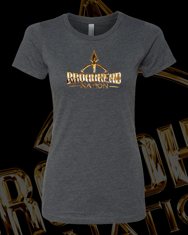 Broadhead Nation Women -Gold Chrome Logo