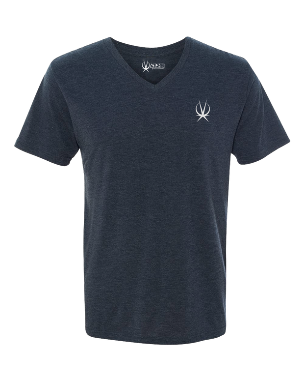 MEN'S V NECK SMALL ICON TSHIRT - ARKEO1