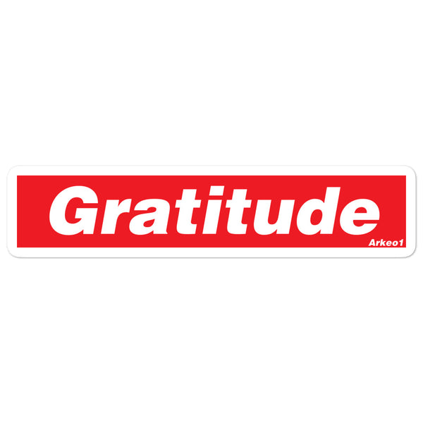 Gratitude Bubble-free stickers