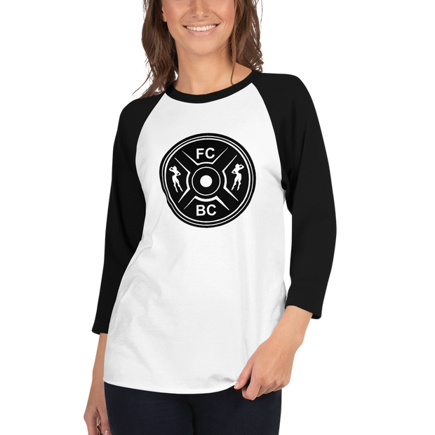 Fit Chick Barbell Club - Members Only 3/4 sleeve raglan shirt