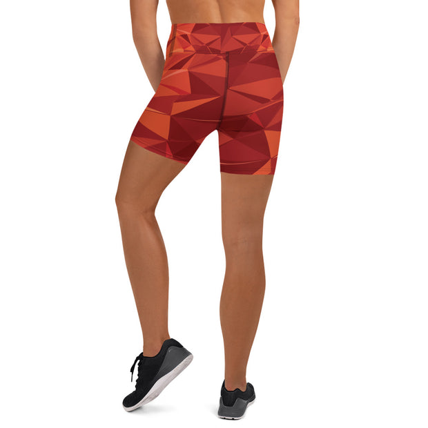 Fire Orange Active Shorts