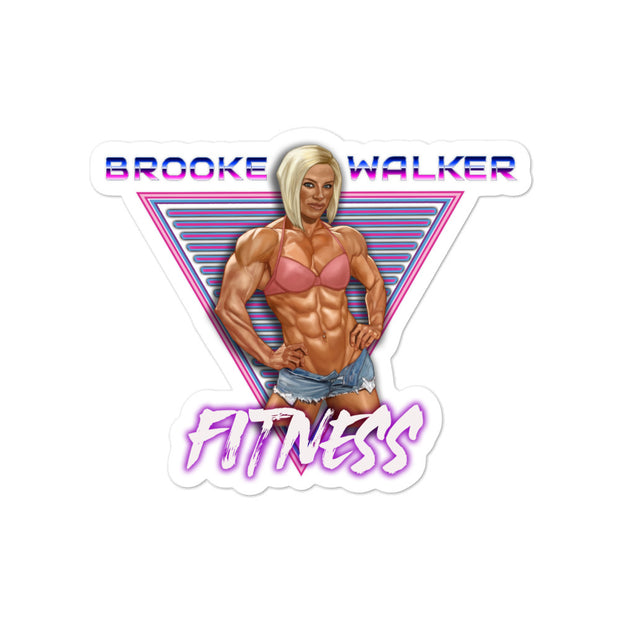 Brooke Walker Fitness 80's Sticker