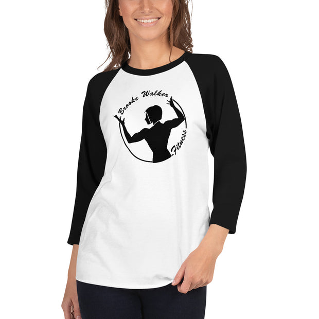 Brooke Walker Fitness Unisex 3/4 sleeve raglan shirt