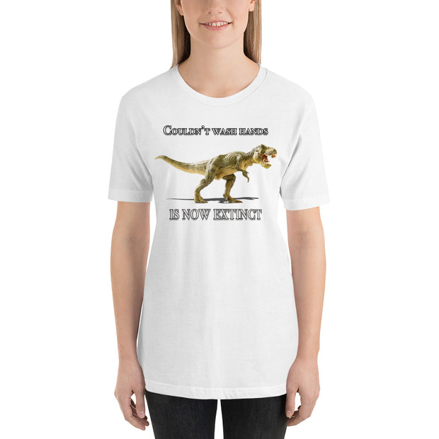 Dino Wash Your Hands Short-Sleeve Unisex T-Shirt