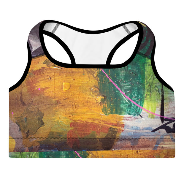 Life Was Meant to Be Awesome Wearable Art Padded Sports Bra