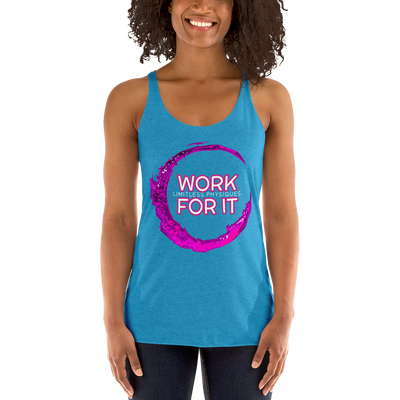 Limitless Physiques Work For It Women's Racerback Tank