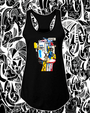 "Gabe Weis -  "" PEOPLE"" Women's Racerback Tank"
