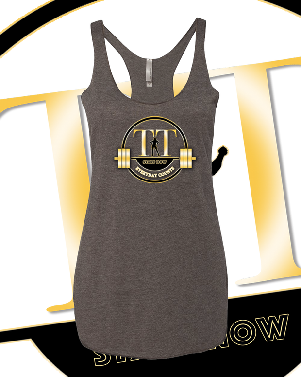 Training Time Triblend Lady's Logo Tank Top