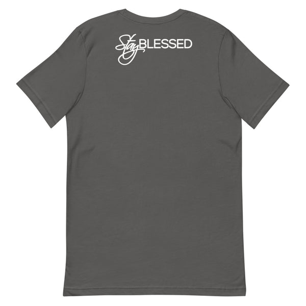 Stay Blessed - Unisex White Pocket Logo T-Shirt