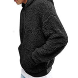 Plush Hooded Men's Sweater